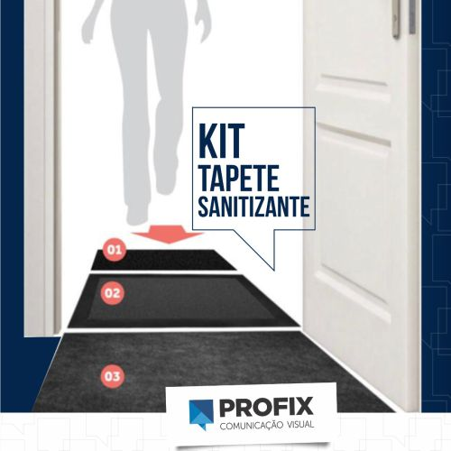 KIT TAPETE SANITIZANTE PRETO