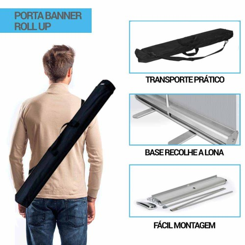 ESTRUTURA ROLL UP COM BAG PARA TRANSPORTE