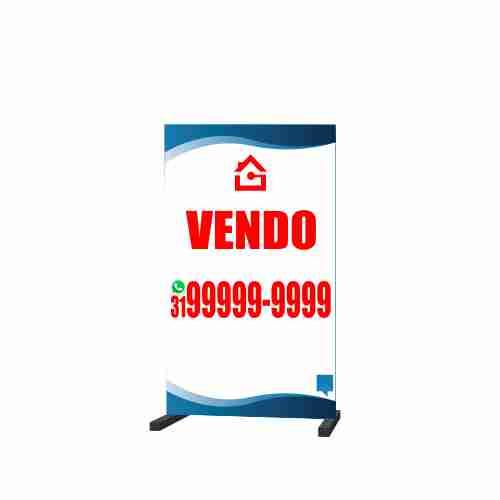 CAVALETE VENDO 70X120 CM