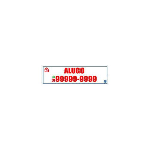 FAIXA ALUGO 100X30 CM
