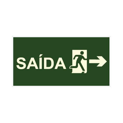 PLACA INDICAÇÃO DE SAÍDA DE EMERGÊNCIA COMPLETA  S-13