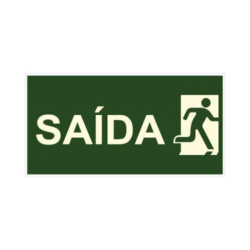 PLACA INDICAÇÃO DE SAÍDA DE EMERGÊNCIA S-14