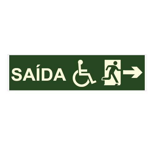 PLACA INDICAÇÃO DE SAÍDA DE EMERGÊNCIA S-16